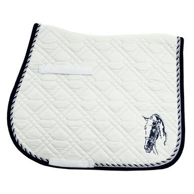 Imperial Riding Saddlepad VS Pisa White-Navy Full