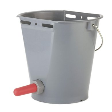 Kerbl Calf Feeding Bucket Plastic with Teat