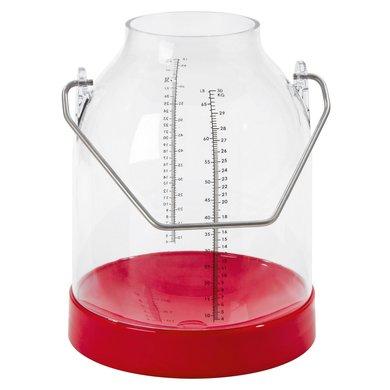 Kerbl Melkeimer mit Skala Bügelhöhe 143 Rot 30L