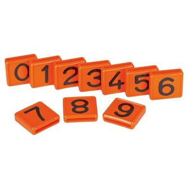 Halsband Nummerblokjes Oranje