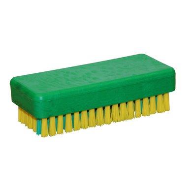 Kerbl Handwerkerbürste mit kräftiger Nagelreihe, Gelb/Grün