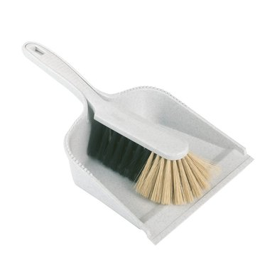 Kerbl Set of Hand Brush and Dustpan White