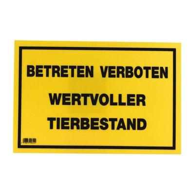 Kerbl Waarschuwingsbord Waardevol Dierenbestand 20x30cm