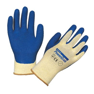 Keron PowerGrab Strickhs. in Latex Weiß/Blau