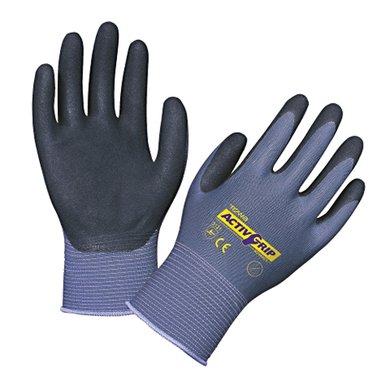 Keron Nylon Handschuhe ActivGrip Advance Blau/Schwarz