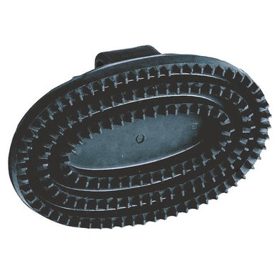 Kerbl Oval Rubber Currycomb Black