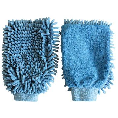 Kerbl Poetshandschoen Microvezel Blauw