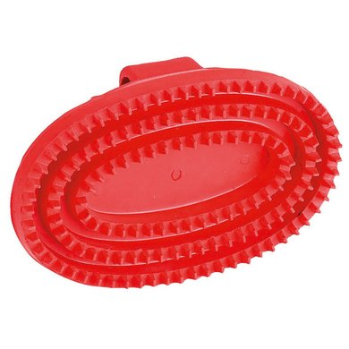 Kerbl Gummistriegel Oval, Hartgummi, Rot