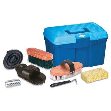 Kerbl Grooming Kit 7-part Blue