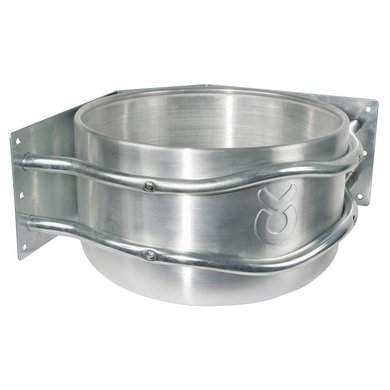 Kerbl Futtertrog Aluminium, zur Eckmontage, mit Ablauf