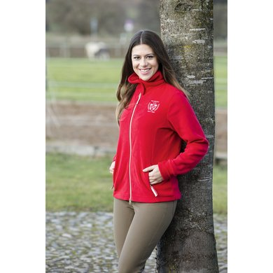Covalliero Dames Fleece Jacket Tango Red