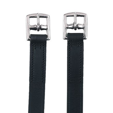 Kerbl Stirrup-belt Leather Black 130cm