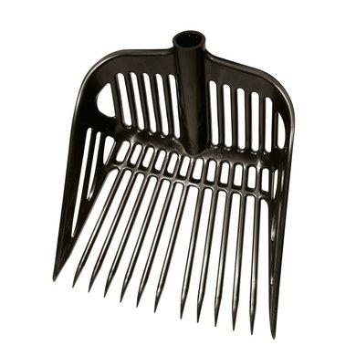 Kerbl Qualitäts-Dunggabel aus Kunststoff Schwarz 45x40cm