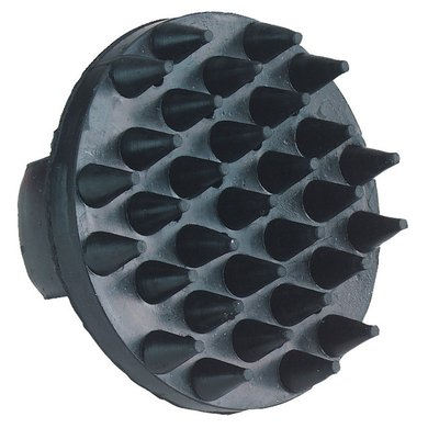 Kerbl Gumminoppenstriegel, Schwarz