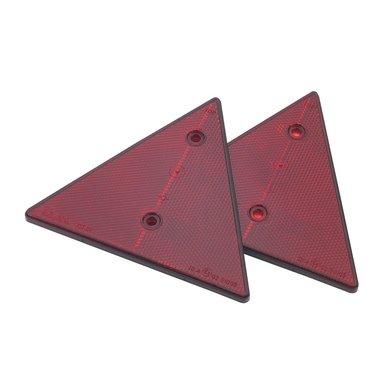 Kerbl Dreieckrückstrahler 2 Löcher 2 Stück im Skin-Pack Rot