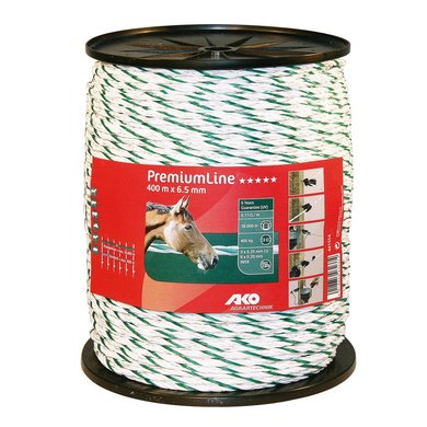 Ako Fencing Rope Premiumline White/Green 400m/� 6,5 mm