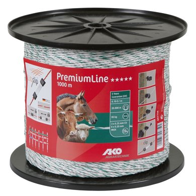 Ako Weidezaunlitze PremiumLine Weiß/Grün