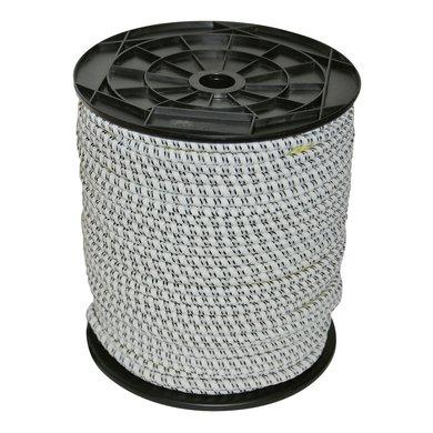 Corral Ruban Électrique Élastique 7mm 50m Noir/Blanc