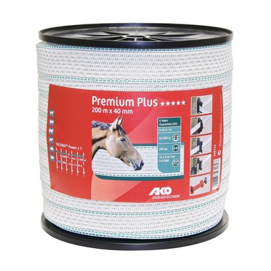 Ako Premium Plus Lint Wit/groen 40mm 200m