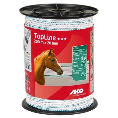 Ako Lint TopLine Wit-petrol 200m 20mm