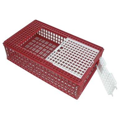 Kerbl Geflügel-Transportbox PVC Rot/Weiß