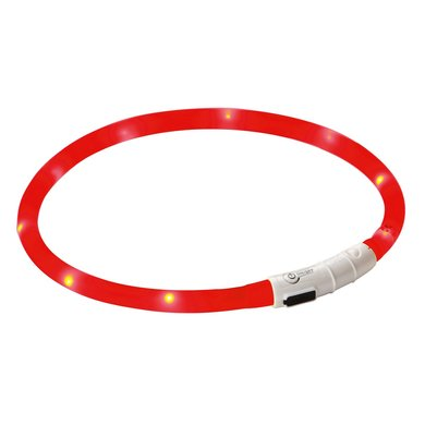 Maxi Safe Oplaadbare LED-Halsband, rood, 55cm
