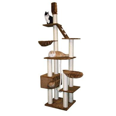 kerbl kratzbaum taunus xl m deckenspanner braun 77x64x240cm. Black Bedroom Furniture Sets. Home Design Ideas