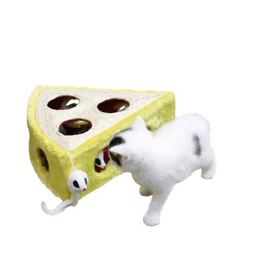 Kerbl Sisalspielzeug CHEESY Gelb/Weiß 28x28x10cm
