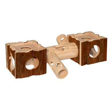 Kerbl Hamsterbrug met Tunnel Nature 40x12x10cm