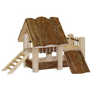 Kerbl Lodge NATURE, Holz 34x27x22cm