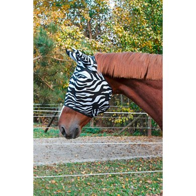 Kerbl Fly Mask RugBe with Ear Protection Zebra Pony
