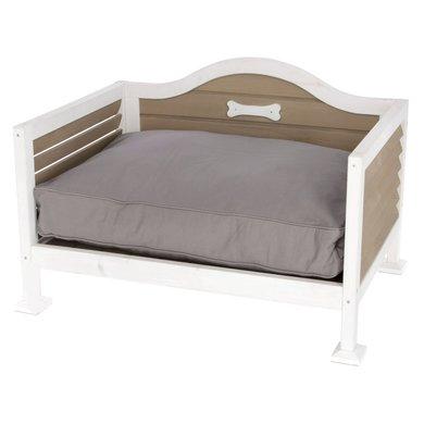 Kerbl Houten Bed Fabio Wit/Grijs/Beige 70x50x48cm