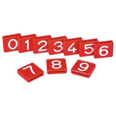 Kerbl Marking Numbers, One-digit Number 0 1 Character Red
