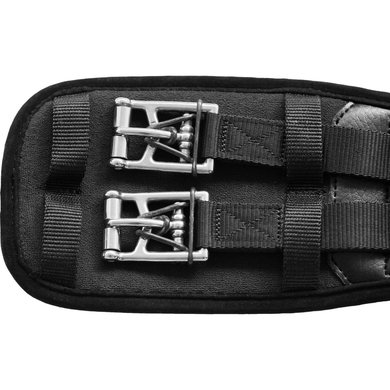 sans bande /élastom/ère Kieffer Sangle de selle AIR-TEX sans /élastique avec boucles /à enroulement Noir 30 cm