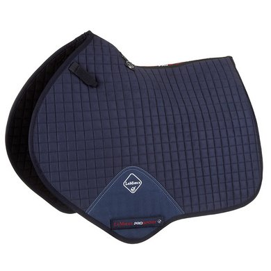 LeMieux Jumping Saddle Pad ProSport Plain Sq Suede Navy L