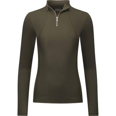 LeMieux Shirt Liberte Base Layer RK mit Reißv. Oak Green 38