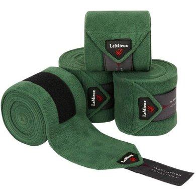 LeMieux Bandages Luxury Polo Set van 4 Hunter Groen Pony