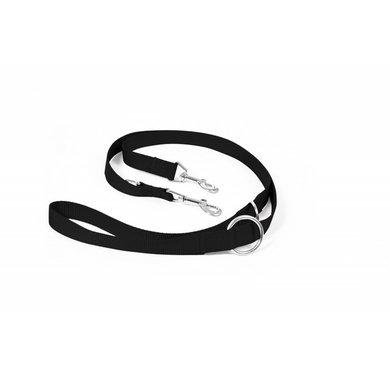 Duvo+ Nylon Leiband, Verstelbaar Zwart 200cm/25mm