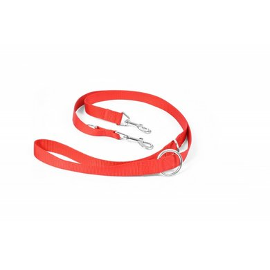 Duvo+ Nylon Leiband, Verstelbaar Rood 200cm/25mm