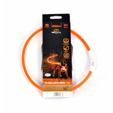 Duvo+ Ring Flash Licht Usb Nylon Oranje 35cm