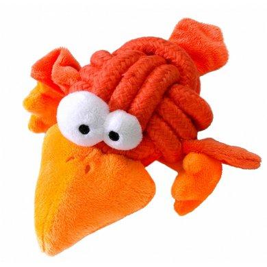 Coockoo Dog Toy Bobble Regular, Knot-plush Oranje 8cm