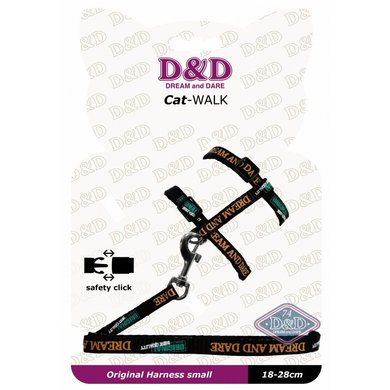 D&d Cat-walk/original Small Harness Black 18-28cm