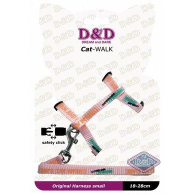 D&d Cat-walk/original Small Harness Pink 18-28cm
