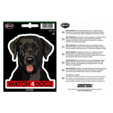 Duvo+ W4d Sticker Labrador Zwart 15,2x11cm