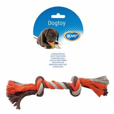 Duvo+ Dogtoy Knoop Katoen Grijs/Oranje