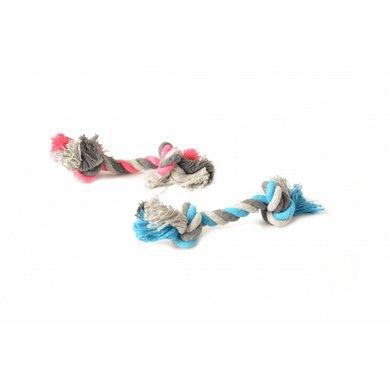 Duvo+ Knoop Katoen 2 Knoop Blauw/roze 12cm