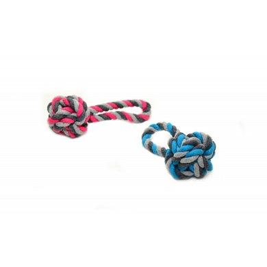 Duvo+ Knoop Katoen Dummy Ball Blauw/roze 9cm