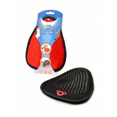 Duvo+ Verzorgingshandschoen 2 In 1 Zwart/rood 20,5x15x1cm