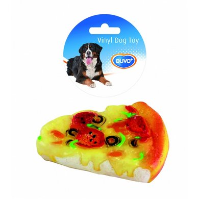 Duvo+ Dogtoy Vinyl Food Pizza 14,5x11,5x2,8cm