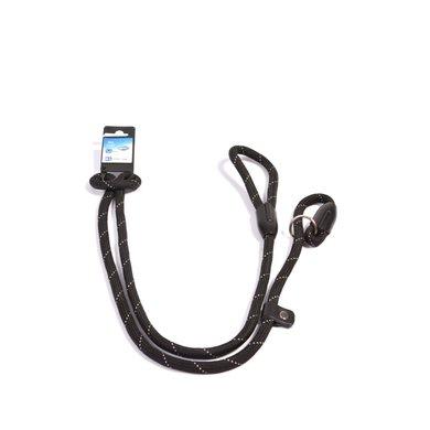 Duvo+ Looplijn met Slip Rond Zwart 183cm/10mm